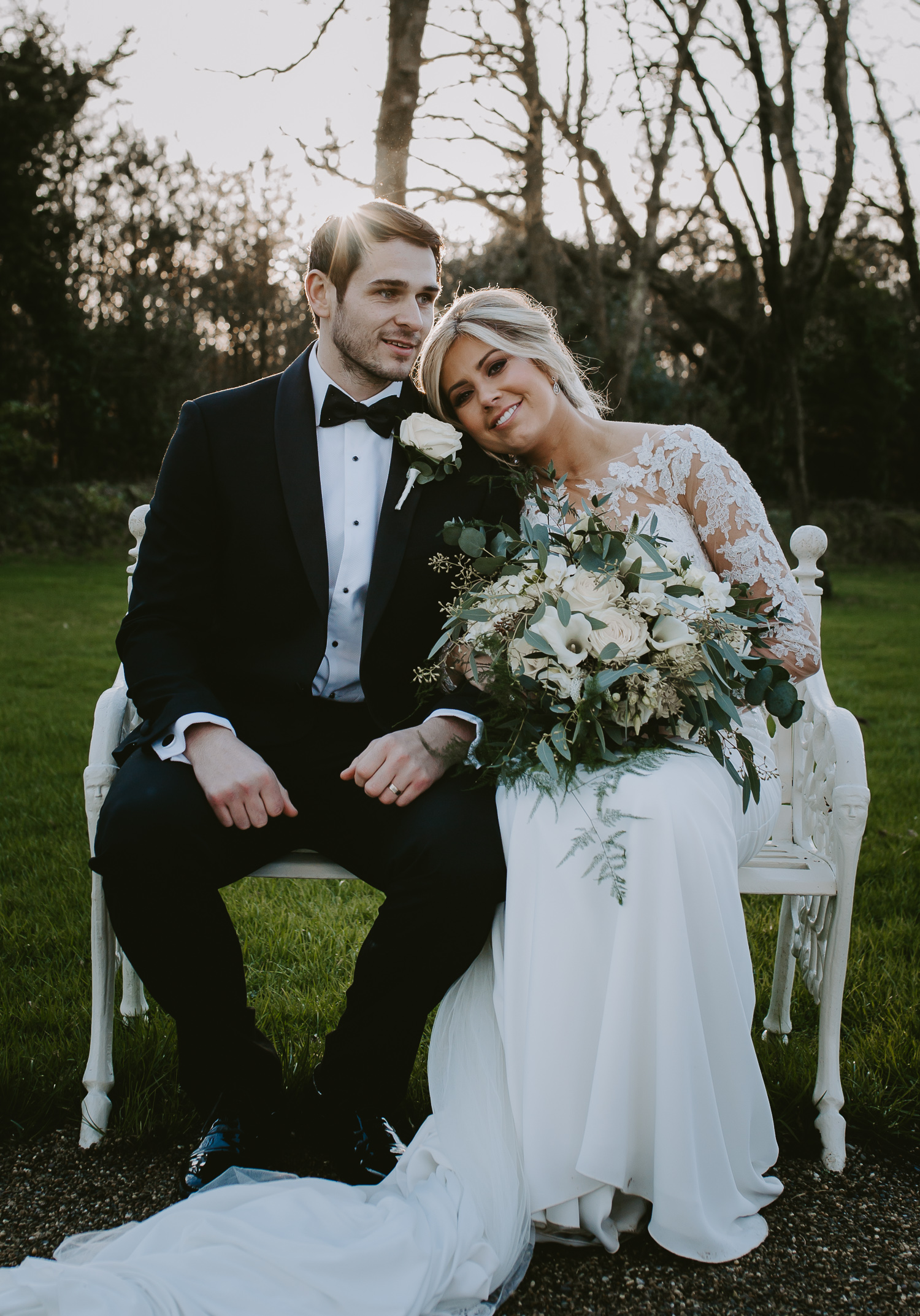 Bride and groom at Clonabreany House
