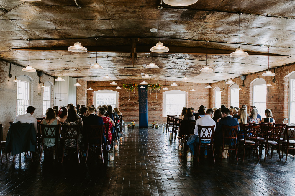 The ceremony room at the West Mill, Derby,