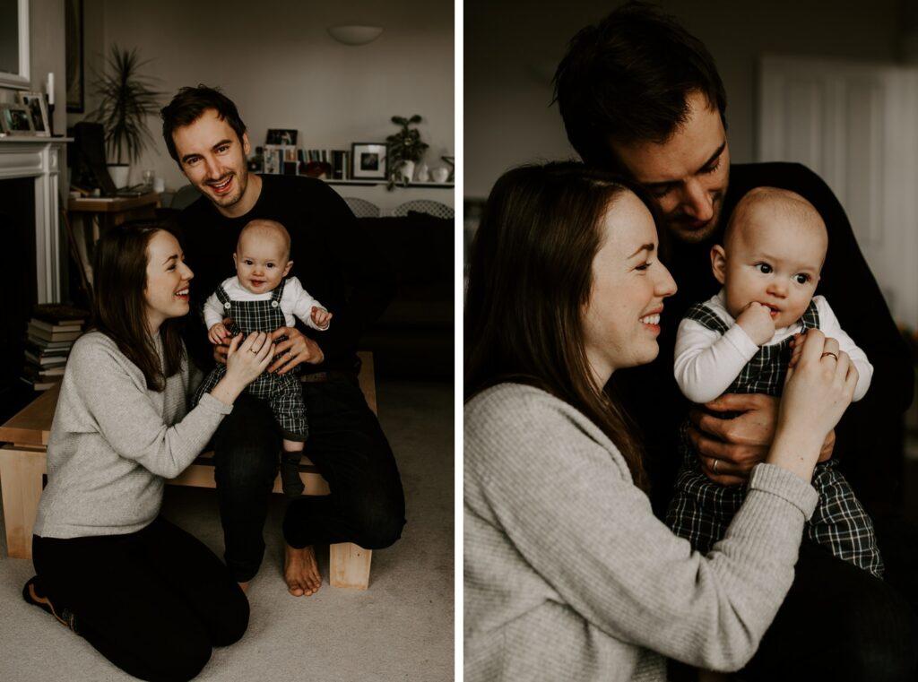 mum, dad, baby, family portraits