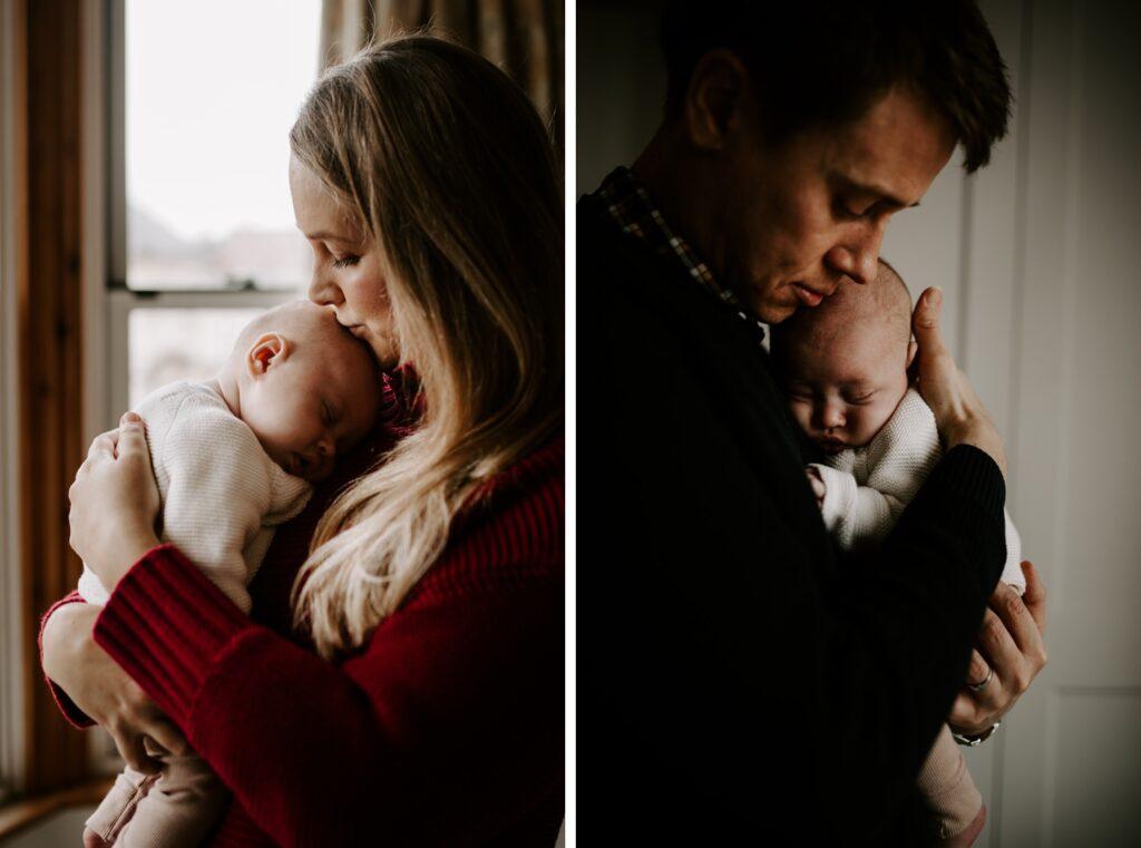 mum, dad, baby, family portraits, newborn session