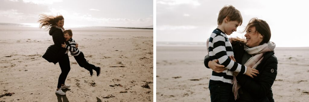 family portraits on Tyrella beach