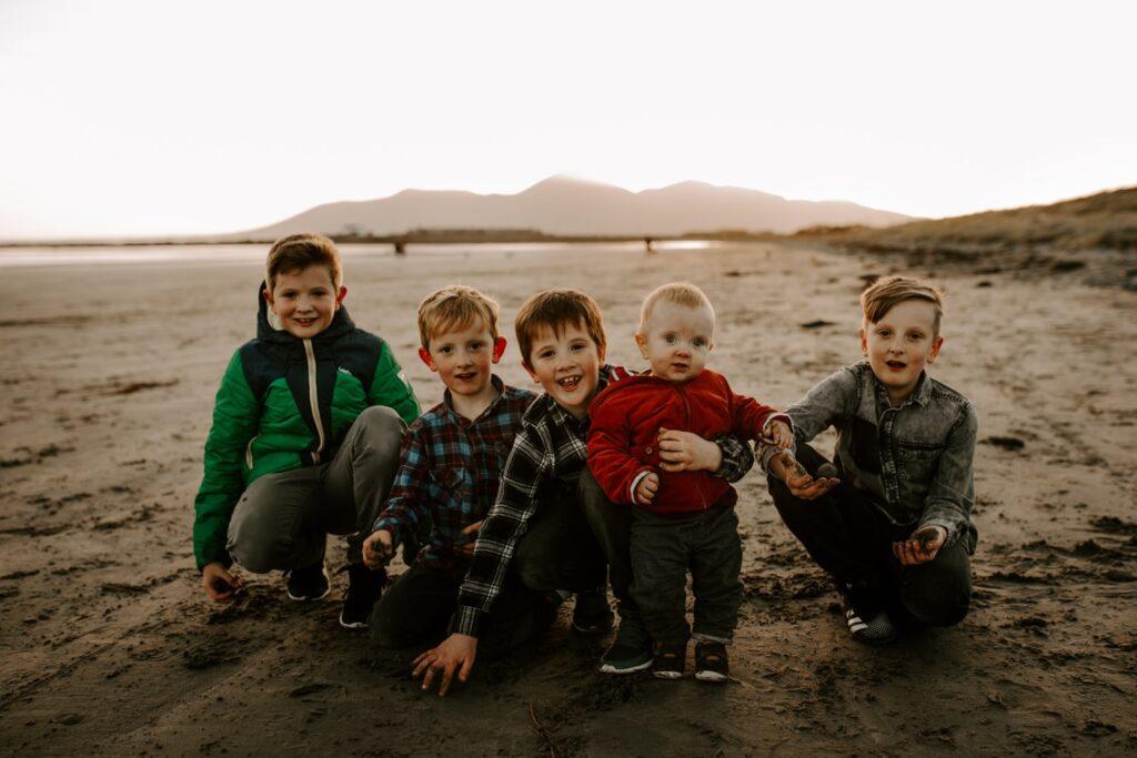 family portraits on Tyrella beach, Northern Ireland