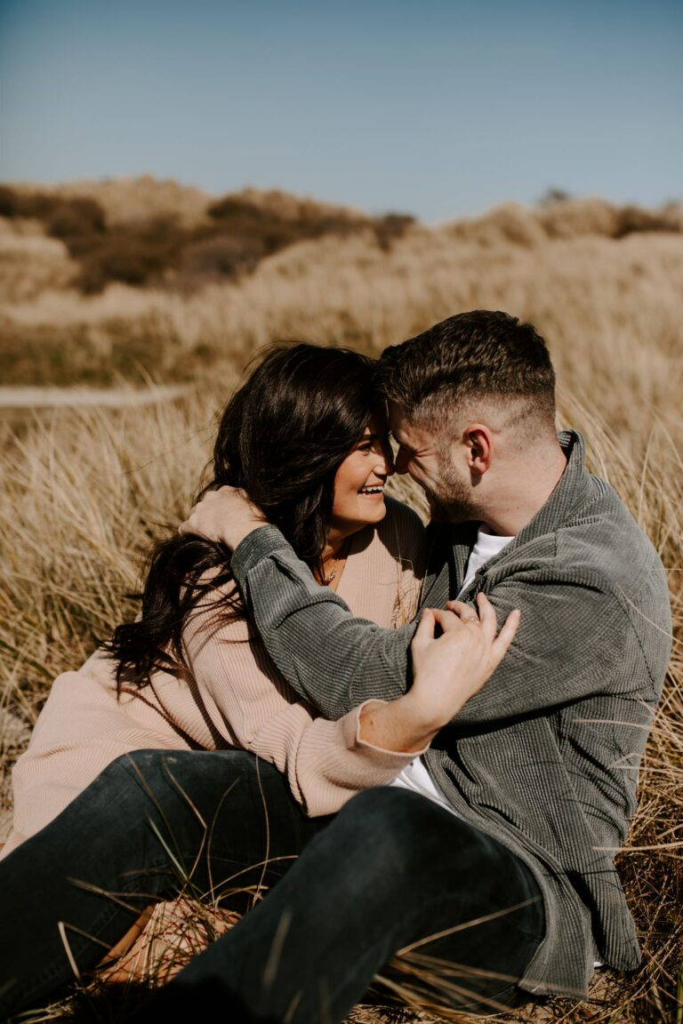 Couple engagement session in sanddunes, Northern Ireland